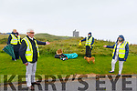 Ballybunion Tidy Towns: Members of Ballybunion Tidy towns group displaying some of the litter that was collected after lqast weekend's influx of visitors to the town, Noel Nash & Kathleen Collins in front and at back are Eileen Beasley & Pat O'Connor with Midge the dog.