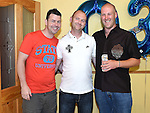 Podge Johnson celebrating his 30th birthday with friends Joe King and Tony Rogers at a surprise party in his home. Photo:Colin Bell/pressphotos.ie