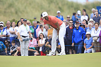 Erik Van Rooyen (RSA) on the 18th green during Round 4 of the Dubai Duty Free Irish Open at Ballyliffin Golf Club, Donegal on Sunday 8th July 2018.<br /> Picture:  Thos Caffrey / Golffile