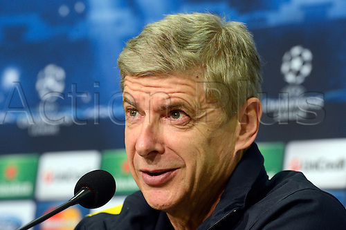 05.11.2012. Gelsenkirchen, Germany.  Arsene Wenger, coach of FC Arsenal, gives a press conference. FC SChalke 04 will play against Arsenal in the Champions League on 6 November 2012.