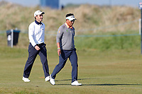 Thongchai Jaidee and Edoardo Molinari walking on the 3rd fairway during the 3rd day at the Betfred British Masters, Hillside Golf Club, Lancashire, England. 11/05/2019.<br /> Picture David Kissman / Golffile.ie<br /> <br /> All photo usage must carry mandatory copyright credit (&copy; Golffile | David Kissman)