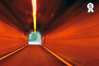 Blurred motion in a road tunnel (Licence this image exclusively with Getty: http://www.gettyimages.com/detail/106882020 )