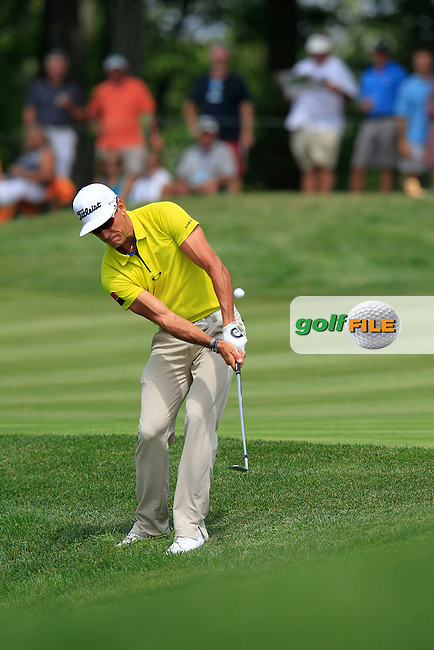 Rafael CABRERA-BELLO (ESP) chips onto the 10th green during Thursday's Round 1 of the 2014 PGA Championship held at the Valhalla Club, Louisville, Kentucky.: Picture Eoin Clarke, www.golffile.ie: 7th August 2014