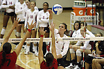 Jackie Albright (#2) shown during the Cougars volleyball match at Bohler Gym in Pullman, Washington, on September 11, 2009.