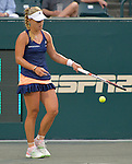 Angelique Kerber (GER) defeated Irina-Camelia Begu (ROU) 7-6, 7-6 at the Family Circle Cup in Charleston, South Carolina on April 10, 2015.