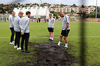 England goalkeeper coach, Chris Woods, inspects the goalmouth ahead of kick-off during Guatemala Under-23 vs England Under-20, Tournoi Maurice Revello Football at Stade Marcel Cerdan on 11th June 2019