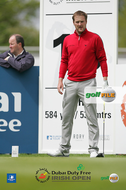 Marc Warren (SCO) during Wednesday's Pro-Am ahead of the 2016 Dubai Duty Free Irish Open Hosted by The Rory Foundation which is played at the K Club Golf Resort, Straffan, Co. Kildare, Ireland. 18/05/2016. Picture Golffile | TJ Caffrey.<br /> <br /> All photo usage must display a mandatory copyright credit as: &copy; Golffile | TJ Caffrey.