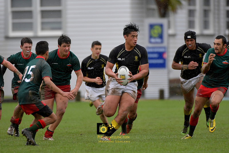 U16 Rugby - Wellington U16B v Wairarapa Bush U16 at Petone Rec, Lower Hutt, New Zealand on Saturday 17 September 2016.<br /> Photo by Masanori Udagawa. <br /> www.photowellington.photoshelter.com.