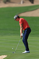 Tapio Pulkkanen (FIN) on the 2nd during Round 4 of the Omega Dubai Desert Classic, Emirates Golf Club, Dubai,  United Arab Emirates. 27/01/2019<br /> Picture: Golffile | Thos Caffrey<br /> <br /> <br /> All photo usage must carry mandatory copyright credit (&copy; Golffile | Thos Caffrey)