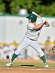 18 August 2012: Vermont Lake Monsters outfielder Brett Vertigan at bat during a game against the Brooklyn Cyclones at Centennial Field in Burlington, Vermont. The Lake Monsters defeated the Cyclones 4-1 in NY Penn League action. Mandatory Credit: Ed Wolfstein Photo