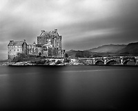 The Eilean Donan Castle in the Scottish Highlands was first built in the mid 13th century.  The castle is situated on an Island at a point where three great sea lochs meet.  Over the years, four different versions have been built.  After major destruction during the Jacobite uprising in 1719, it laid in ruins for nearly 200 years.  A restoration process began in 1911 after Lieutenant Colonel John MacRae-Gilstrap bought the island.  The castle was re-opened in 1932.