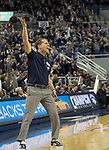 Nevada head coach Eric Musselman gets the crowd fired up        against San Diego State in the second half of an NCAA college basketball game in Reno, Nev., Saturday, March 9, 2019. (AP Photo/Tom R. Smedes)