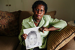 Addie Mae Collins was one of four girls killed in a bomb blast at 16th Street Baptist Church in Birmingham, Alabama in 1963. Her sister Sarah Collins Rudolph survived and lost an eye in the blast. She sits in her Birmingham, Alabama home August 14, 2013.
