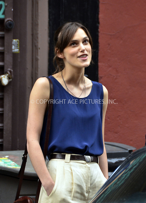 WWW.ACEPIXS.COM....July 19 2012, New York City....Actress Keira Knightley on the set of the new movie 'Can a Song Save Yor Life' on July 19 2012 in New York City....By Line: Curtis Means/ACE Pictures......ACE Pictures, Inc...tel: 646 769 0430..Email: info@acepixs.com..www.acepixs.com