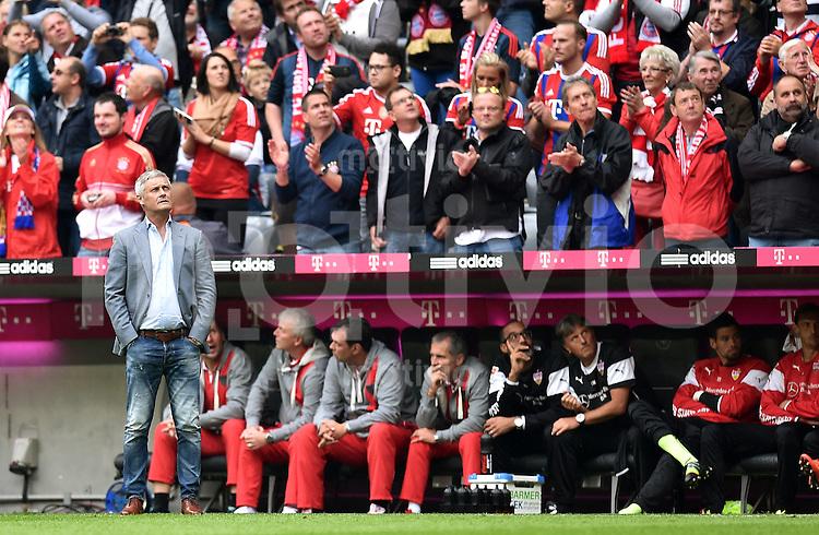 Fussball  1. Bundesliga  Saison 2014/2015   3. SPIELTAG FC Bayern Muenchen - VfB Stuttgart       13.09.2014 Trainer Armin Veh (VfB Stuttgart)
