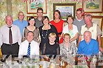 Killarney couples Byron, Eileen Holmes and Vera, James O'Connor both shared their 40th wedding anniversary's with their family and friends in the Bricin restaurant Killarney on Saturday night front row l-r: Byron, Eileen Holmes, Vera and James O'Connor. Back row: Ted O'Connor, Matthew Sweetman, Alison Frazier, Cieran O'Brien, Amanda O'Brien, Caroline Sweetman, Mary, Alan and Derry O'Connor