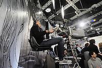 - Milano, gli studi televisivi di LA7 da cui va in onda la trasmissione di approfondimento informativo &quot;Le invasioni barbariche&quot;<br /> <br /> - Milan, television studios of LA7 from which is transmitted the in-depth information show &quot;the barbarian invasions&quot;