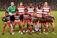 MLS Western Conference Championship FC Dallas starting eleven.  FC Dallas defeated the LA Galaxy 3-0 to win the Western Division 2010 MLS Championship at Home Depot Center stadium in Carson, California on Sunday November 14, 2010.