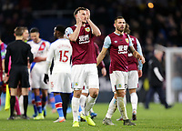 Burnley's Chris Wood looks dejected as he applauds the fans at the final whistle<br /> <br /> Photographer Rich Linley/CameraSport<br /> <br /> The Premier League - Burnley v Crystal Palace - Saturday 30th November 2019 - Turf Moor - Burnley<br /> <br /> World Copyright © 2019 CameraSport. All rights reserved. 43 Linden Ave. Countesthorpe. Leicester. England. LE8 5PG - Tel: +44 (0) 116 277 4147 - admin@camerasport.com - www.camerasport.com