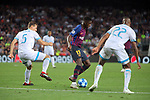 UEFA Champions League 2018/2019 - Matchday 1.<br /> FC Barcelona vs PSV Eindhoven: 4-0.<br /> Daniel Schwaab, Ousmane Dembele &amp; Denzel Dumfries.