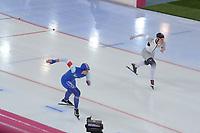 SPEEDSKATING: HAMAR: Vikingskipet, 28-02-2020, ISU World Speed Skating Championships, Sprint, 500m Ladies, Ida Njåtun (NOR), Katja Franzen (GER), ©photo Martin de Jong