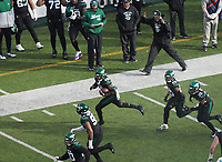 outside linebacker James Burgess (58) of the New York Jets beim Interception Return - 08.12.2019: New York Jets vs. Miami Dolphins, MetLife Stadium New York