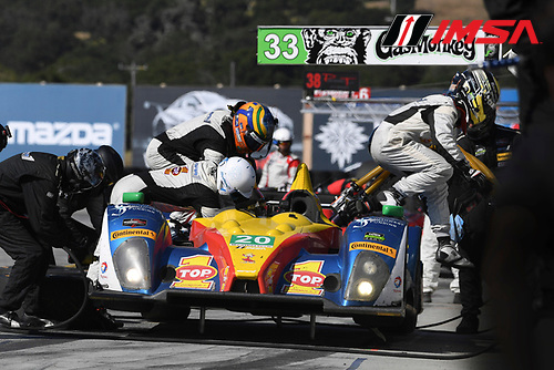 29 April - 1 May, 2016, Monterey, CaliforniaUSA<br /> 20, Chevrolet, ORECA FLM09, PC, Matthew McMurry, Johnny Mowlem Pit Stop<br /> &copy;2016, Richard Dole<br /> LAT Photo USA