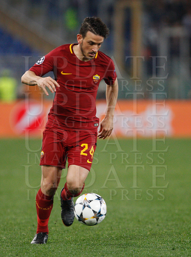 Roma s Alessandro Florenzi in action during the Uefa Champions League quarter final second leg football match between AS Roma and FC Barcelona at Rome's Olympic stadium, April 10, 2018.<br /> UPDATE IMAGES PRESS/Riccardo De Luca