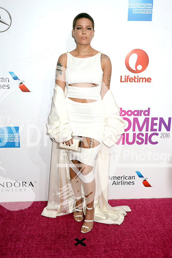 Halsey attends Billboard Women In Music 2016 at Pier 36 on December 9, 2016 in New York City.