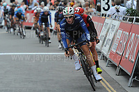 The 2017 Abergavenny Festival of Cycling on Friday 7th July 2017 - <br /> <br /> Lead bike is Harry Tanfield of BIKE Channel Canyon racing team who finished in 3rd place<br /> <br /> <br /> Jeff Thomas Photography<br /> www.jaypics.photoshelter.com<br /> e-mail swansea1001@hotmail.co.uk<br /> Mob: 07837 386244