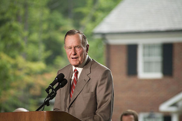 Thursday, May 31, Charlotte, North Carolina. Dedication ceremony for the new Billy Graham Library in Charlotte, North Carolina.. Former president George HW Bush was the keynote speaker.