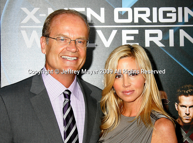 "HOLLYWOOD, CA. - April 28: Kelsey Grammer and wife Camille Grammer arrive at ""X-Men Origins: Wolverine"" Los Angeles Industry Screening at Grauman's Chinese Theatre on April 28, 2009 in Los Angeles, California."