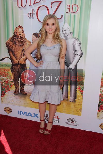"""Sierra McCormick<br /> at """"The Wizard Of Oz 3D"""" World Premiere Screening and Grand Opening of the TCL Chinese IMAX Theater, Chinese Theater, Hollywood, CA 09-15-13<br /> David Edwards/DailyCeleb.com 818-249-4998"""