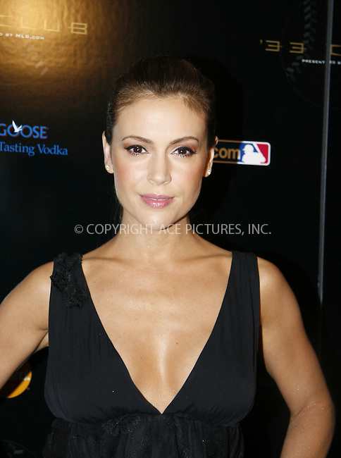WWW.ACEPIXS.COM . . . . .  ....July 13 2008, New York City....Actress Alyssa Milano at the '33 Club party' presented by MLB.com at the Roseland Ballroom on July 13, 2008 in New York City....Please byline: NANCY RIVERA- ACE PICTURES.... *** ***..Ace Pictures, Inc:  ..tel: (646) 769 0430..e-mail: info@acepixs.com..web: http://www.acepixs.com