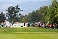 Thomas Pieters (BEL) on the 5th tee during Round 1 of the D+D Real Czech Masters at the Albatross Golf Resort, Prague, Czech Rep. 31/08/2017<br /> Picture: Golffile | Thos Caffrey<br /> <br /> <br /> All photo usage must carry mandatory copyright credit     (&copy; Golffile | Thos Caffrey)
