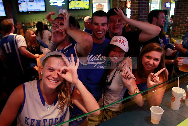 UK fans celebrate during the Elite 8 game against Baylor at Hugh Jass on March 25, 2012. Photo by Alex Lovan | Staff