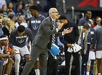 Washington, DC - March 10, 2018: Rhode Island Rams head coach Dan Hurley reacts during the Atlantic 10 semi final game between Saint Joseph's and Rhode Island at  Capital One Arena in Washington, DC.   (Photo by Elliott Brown/Media Images International)