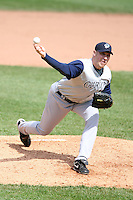 May 10, 2009:  Relief Pitcher Adam Russell of the Charlotte Knights, Triple-A International League affiliate of the Chicago White Sox, delivers a pitch during a game at Frontier Field in Rochester, NY.  Photo by:  Mike Janes/Four Seam Images