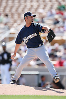 March 11,2009: David Risk (54) of the Milwaukee Brewers at Camelback Ranch in Glendale, AZ.  Photo by: Chris Proctor/Four Seam Images
