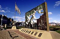 Monument for dead soldiers from the war against Englang at the Malvinas / Falkland Islands in Ushuaia, Fireland.<br /> 27.10.2000, Ushuaia<br /> Copyright: Christian-Ditsch.de<br /> [Inhaltsveraendernde Manipulation des Fotos nur nach ausdruecklicher Genehmigung des Fotografen. Vereinbarungen ueber Abtretung von Persoenlichkeitsrechten/Model Release der abgebildeten Person/Personen liegen nicht vor. NO MODEL RELEASE! Nur fuer Redaktionelle Zwecke. Don't publish without copyright Christian-Ditsch.de, Veroeffentlichung nur mit Fotografennennung, sowie gegen Honorar, MwSt. und Beleg. Konto: I N G - D i B a, IBAN DE58500105175400192269, BIC INGDDEFFXXX, Kontakt: post@christian-ditsch.de<br /> Urhebervermerk wird gemaess Paragraph 13 UHG verlangt.]