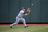 Boomer White #8 of the TCU Horned Frogs fields during Game 3 of the 2014 Men's College World Series between the Texas Tech Red Raiders and TCU Horned Frogs at TD Ameritrade Park on June 15, 2014 in Omaha, Nebraska. (Brace Hemmelgarn/Four Seam Images)