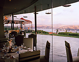 TURKEY, Istanbul, view of Bosphorus city from Ulus 29 restaurant