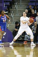 SEATTLE, WA - DECEMBER 18: Washington's Hannah Johnson against Savannah State.  Washington won 87-36 over Savannah State at Alaska Airlines Arena in Seattle, WA.