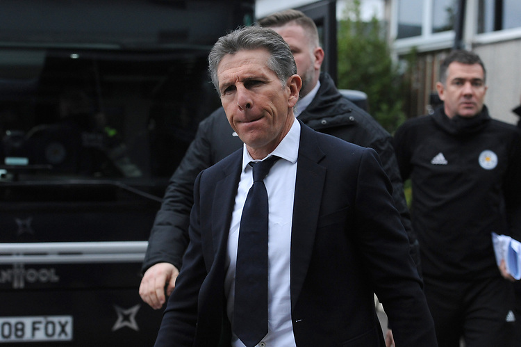 Leicester City manager Claude Puel arrives at Rodney Parade home of Newport County<br /> <br /> Photographer Ian Cook/CameraSport<br /> <br /> The Emirates FA Cup Third Round - Newport County v Leicester City - Sunday 6th January 2019 - Rodney Parade - Newport<br />  <br /> World Copyright © 2019 CameraSport. All rights reserved. 43 Linden Ave. Countesthorpe. Leicester. England. LE8 5PG - Tel: +44 (0) 116 277 4147 - admin@camerasport.com - www.camerasport.com