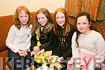 l-r  Olivia Dillon, Keelan Hickey, Eve Hennessy and Caitlyn Brosnan at the Presentation Primary School, Tralee fundraiser table quiz in the Na Gaeil Clubhouse on Friday