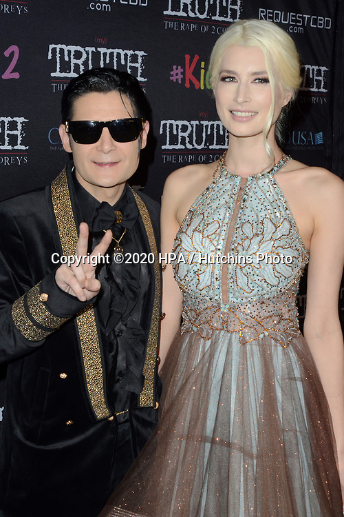 "LOS ANGELES - MAR 9:  Corey Feldman, Courtney Anne Mitchell at the ""(My) Truth: The Rape of 2 Coreys"" L.A. Premiere at the DGA Theater on March 9, 2020 in Los Angeles, CA"
