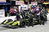 2017 Verizon IndyCar Series<br /> Toyota Grand Prix of Long Beach<br /> Streets of Long Beach, CA USA<br /> Sunday 9 April 2017<br /> Charlie Kimball, pit stop<br /> World Copyright: Michael L. Levitt<br /> LAT Images