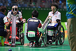 (L-R) Patrick Wilson (GBR), Kazuki Takahashi (JPN),<br /> SEPTEMBER 14, 2016 - Boccia : <br /> Individual BC3 match between Patrick Wilson 5-3 Kazuki Takahashi<br /> at Carioca Arena 2<br /> during the Rio 2016 Paralympic Games in Rio de Janeiro, Brazil.<br /> (Photo by AFLO SPORT)