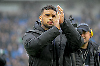 Brighton's new signing of striker Jürgen Locadia from PSV Eindhoven for a club-record fee is presented to the fans  during the Premier League match between Brighton and Hove Albion and Chelsea at the American Express Community Stadium, Brighton and Hove, England on 20 January 2018. Photo by Edward Thomas / PRiME Media Images.