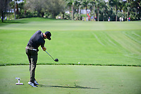 Patrick Rodgers (USA) watches his tee shot on 10 during round 1 of the Honda Classic, PGA National, Palm Beach Gardens, West Palm Beach, Florida, USA. 2/23/2017.<br /> Picture: Golffile | Ken Murray<br /> <br /> <br /> All photo usage must carry mandatory copyright credit (&copy; Golffile | Ken Murray)